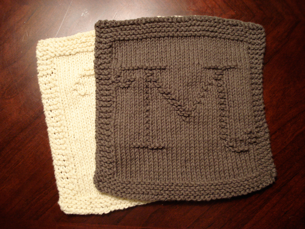 Knitted Dishcloth Pattern With Letters : Category   Knitting Patterns   @ Heather Kate