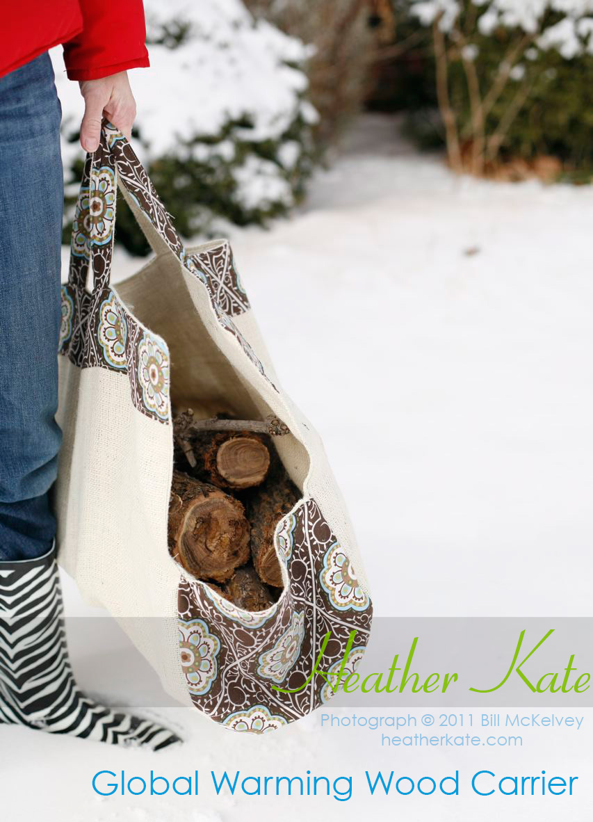 Global Warming Wood Carrier Sewing Pattern