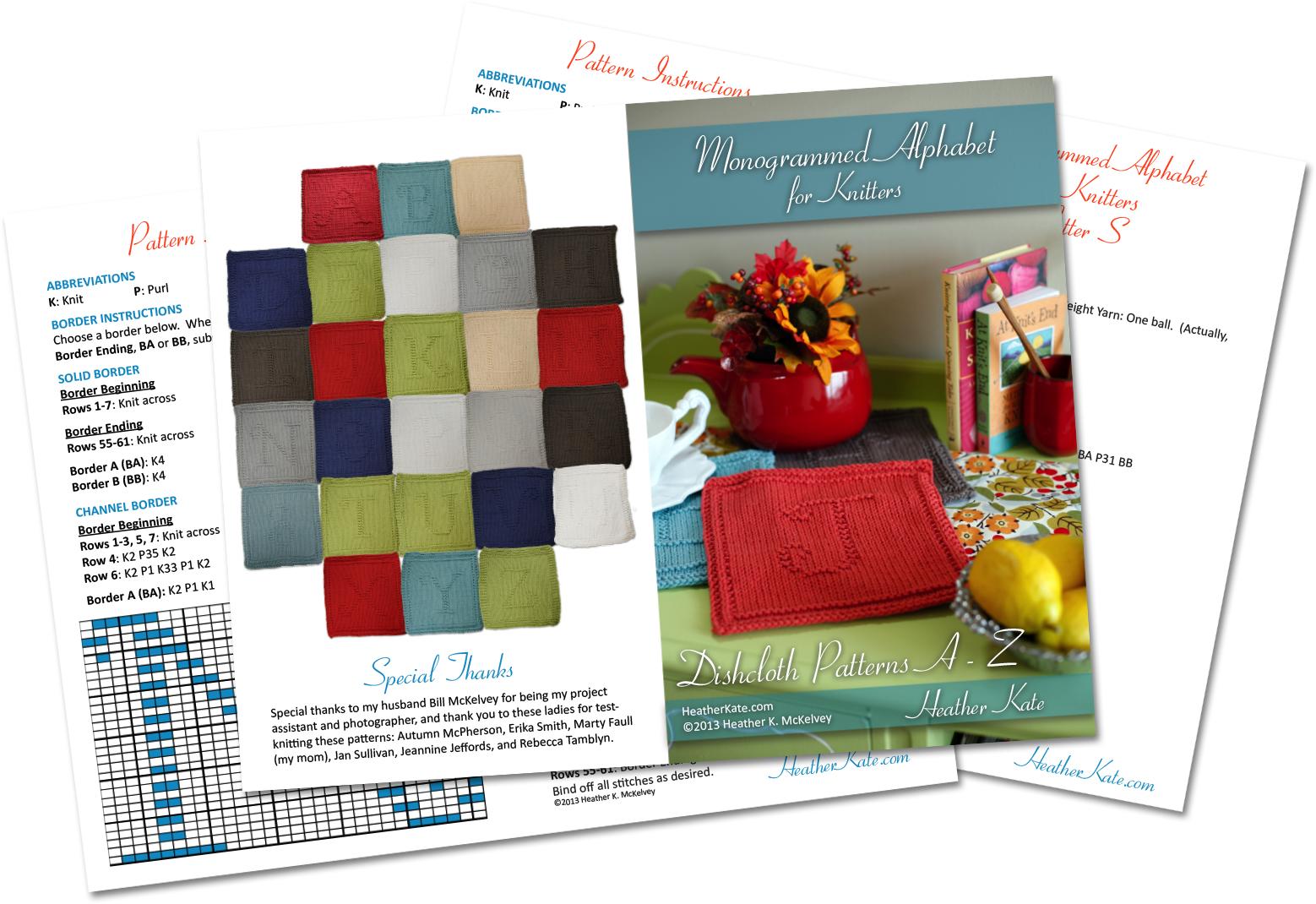 Free Monogrammed Knitting Patterns