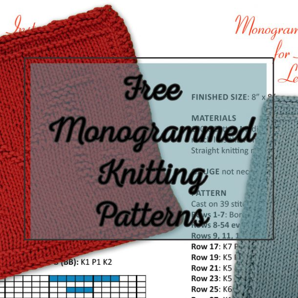 Free Monogrammed Knitting Patterns